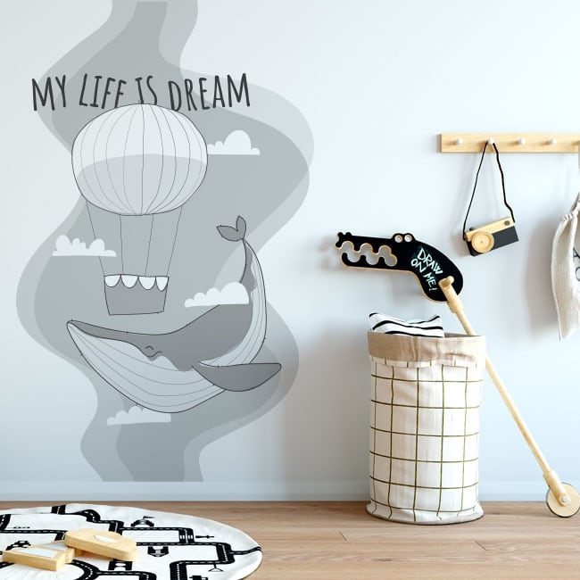Vinyls and stickers phrase in english my life is dream