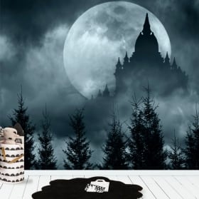 Vinyl wall murals full moon