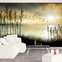 Vinyl wall murals landscape illustration