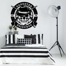 Vinyl stickers gangster paradise skull