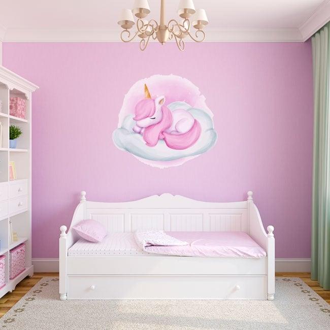 Children's vinyl stickers cloud unicorn