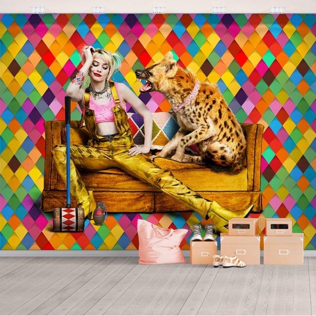 Vinyl wall murals harley quinn birds of prey