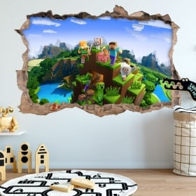 3d vinyls minecraft video game