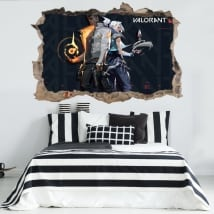 Vinyls and stickers 3d video game valorant