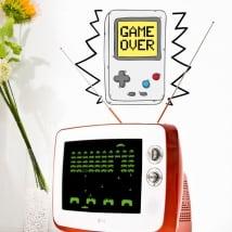 Decorative vinyl video game game over