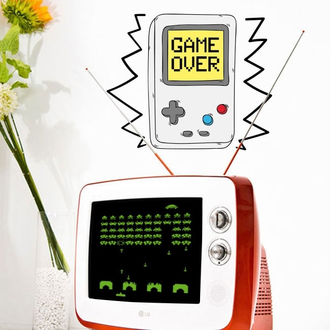 Decorative vinyl video game game over