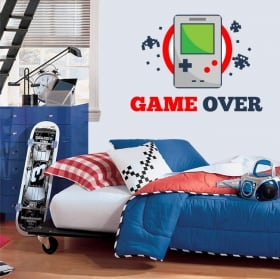 Video game stickers game over