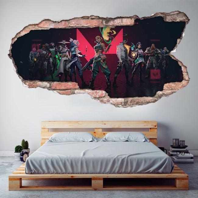 Decorative vinyl video game valorant 3d