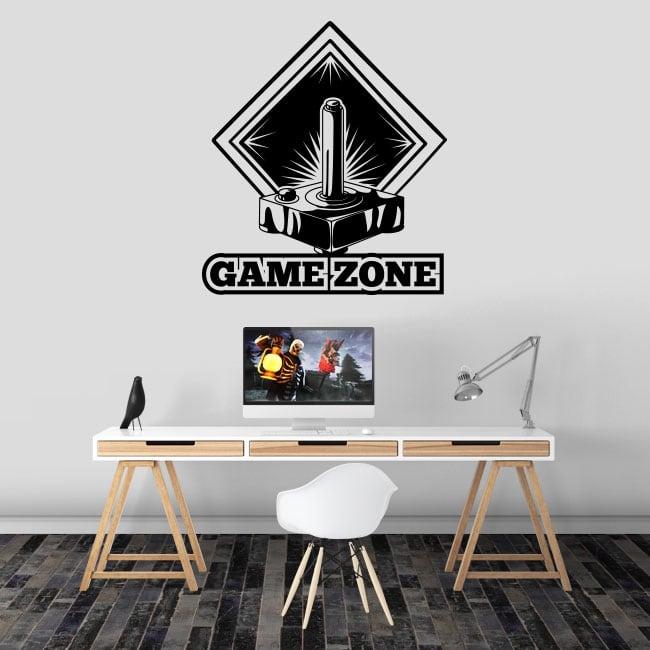 Decorative vinyl video game game zone