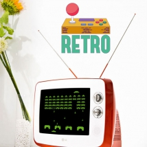Decorative vinyl retro video games
