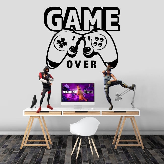Game stickers game over