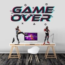 Game over video game stickers