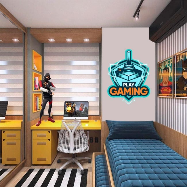 Decorative vinyl and stickers play gaming