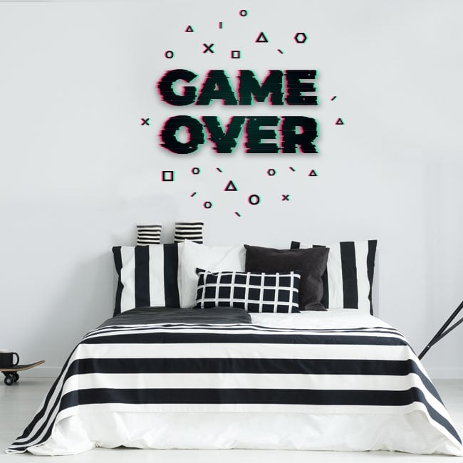 Decorative vinyl and stickers game over
