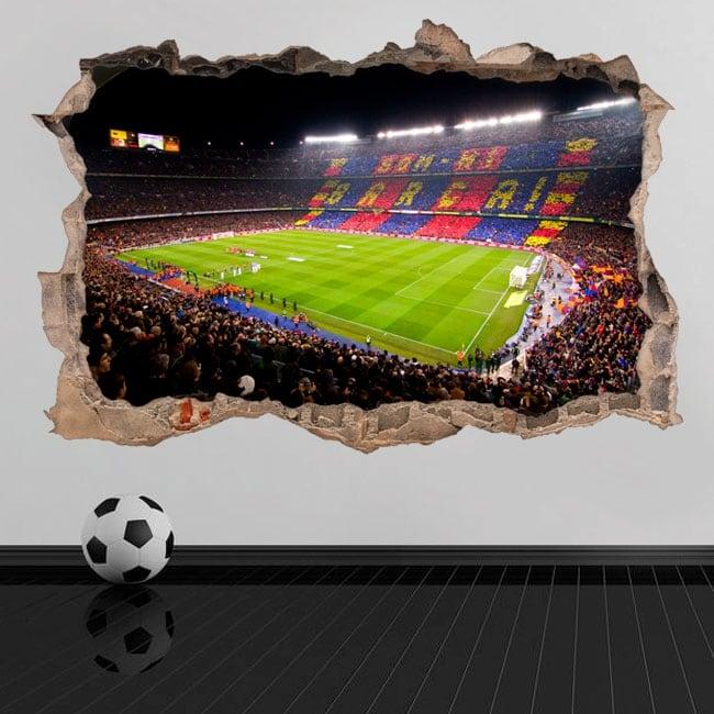Vinyl and stickers 3d camp nou barcelona football stadium