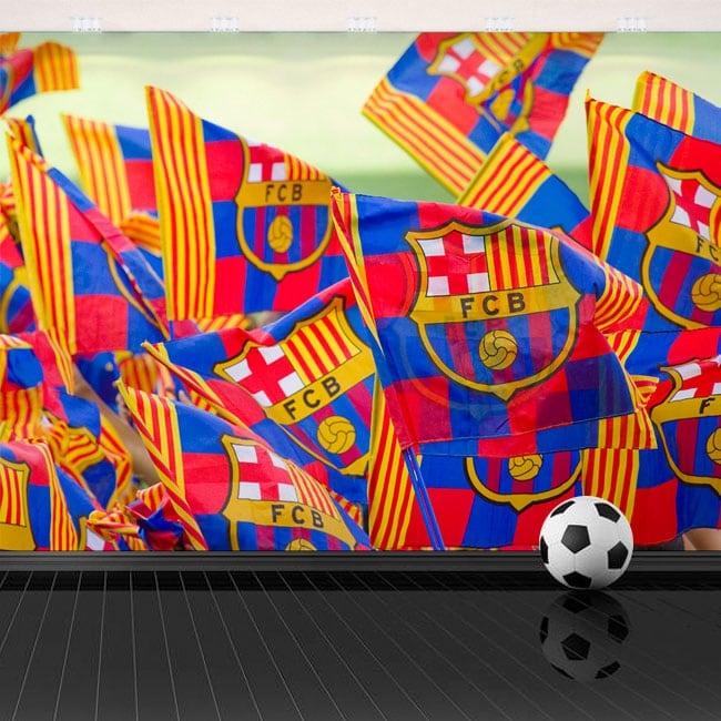 Vinyl wall stickers barça flags