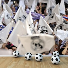 Vinyl wall murals real madrid flags