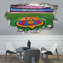 3d vinyls camp nou football stadium