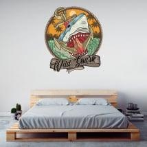Vinyl and stickers wild shark