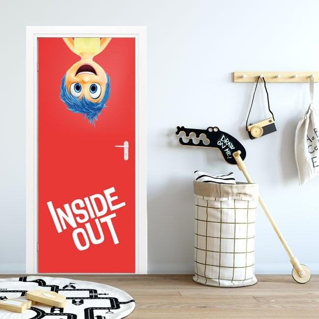 Door stickers disney inside out