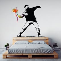 Decorative vinyls banksy graffiti