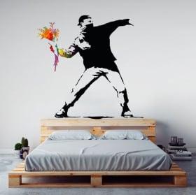 Decorative vinyls banksy graffiti