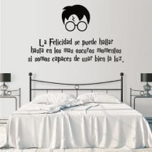 Decorative vinyls and stickers phrase harry potter