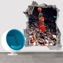 Vinyl and 3d stickers basketball michael jordan