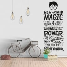Vinyl and stickers phrase harry potter
