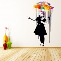 Decorative vinyl banksy graffiti
