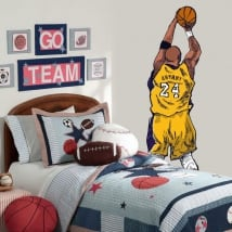 Decorative vinyl kobe bryant basketball