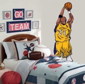 Decorative vinyl kobe bryant basketball