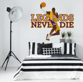 Vinyl stickers kobe bryant los angeles lakers basketball