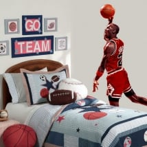 Decorative vinyl michael jordan basketball