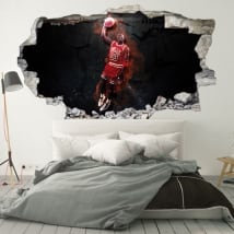 3d decorative vinyls michael jordan nba