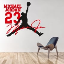 Decorative vinyl michael jordan nba