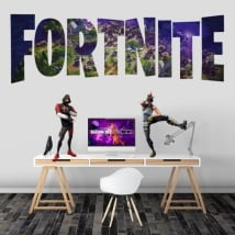Adhesive vinyls and stickers video game fortnite