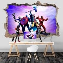 3d vinyls videogame fortnite avengers