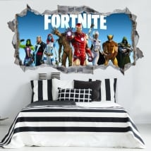 3d vinyl stickers videogame fortnite
