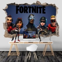 Wall stickers 3d video game fortnite