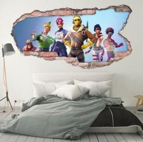Decorative vinyl 3d walls fortnite video game