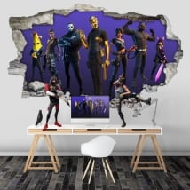 Fortnite 3d hole stickers