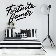 Decorative vinyl fortnite gamer