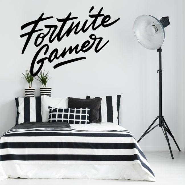 Decorative vinyl fortnite gamer