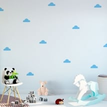 Children's vinyls and stickers cloud kit