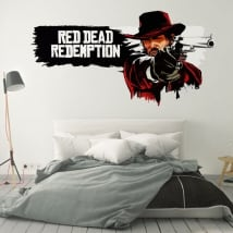 Vinyls and stickers video game red dead redemption