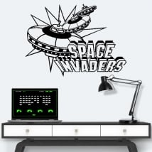 Vinyl and stickers video games retro space invaders