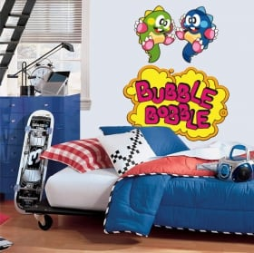 Vinyl and stickers video game bubble bobble