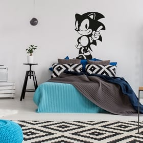 Decorative vinyls and stickers video games sonic