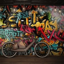 Vinyl wall murals urban graffiti